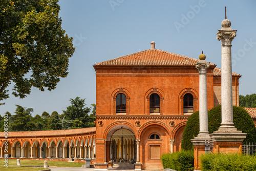 Fényképezés  Cemetery church in Ferrara town, Italy