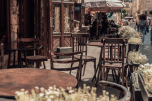 View Of Old Cozy Cafe In Old C...