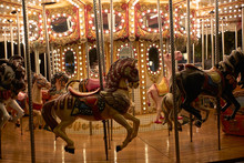 Horses On A Merry-go-round Wit...
