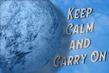 Keep Calm And Carry On Text Ne...