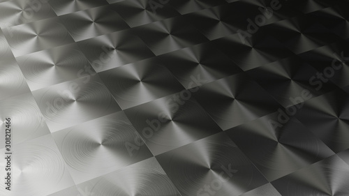 3D rendering of Metal texture of anisotropic aluminum foil Wallpaper Mural