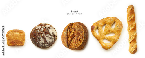 Fotomural Bread of various types and shapes