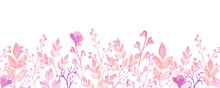 Watercolor Pink Frame Flower V...