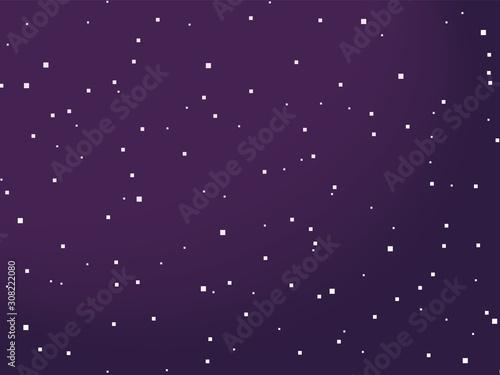 Starry space vector background. Pixel art. 8 bit.  Stars. Wallpaper Mural