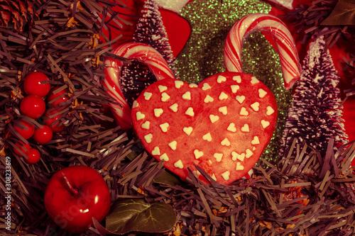 Obraz Domowej roboty pierniczki świąteczne Boże Narodzenie - fototapety do salonu