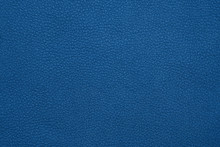 Background Texture Of Blue Natural Leather Grain