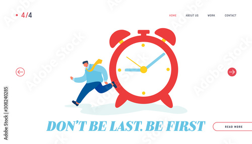 Time Resource Website Landing Page Tablou Canvas