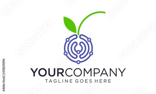 Berry technology logo designs concept