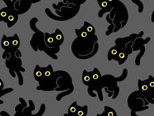 Cute Cartoon Cat Pattern