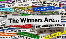 The Winners Are Awards Cermony Announcement News Headlines 3d Illustration