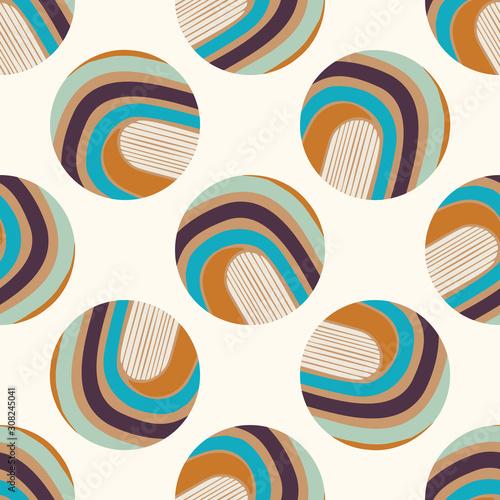 Mid Century Modern Vintage Pattern Background Canvas Print