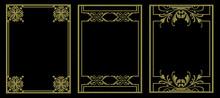 3d Golden Vintage Embroidery P...