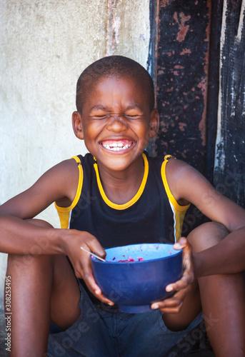 African child in a village Fototapete