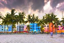 Miami Beach, Florida, USA City...