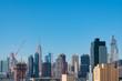 Midtown Manhattan Skyline with a Blue Sky