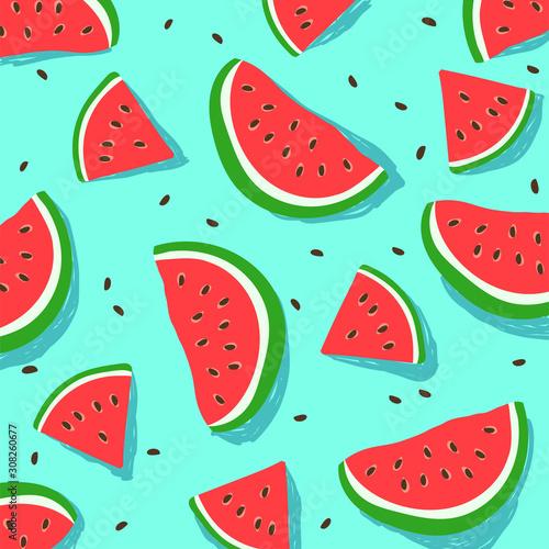 fototapeta na lodówkę watermelon pattern for background EPS 10