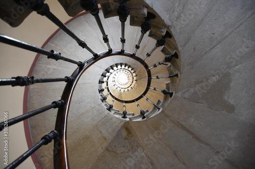 Spoed Fotobehang Spiraal Spirale d'escalier