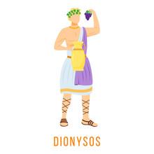 Dionysos Flat Vector Illustrat...