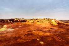 Sulfure Pouring Out At The Surface Of The Dallol