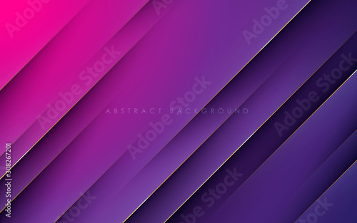 Modern texture purple and pink abstract background concept with gold line decoration