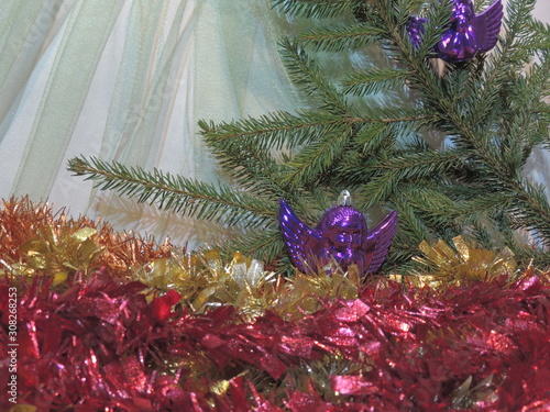 christmas decoration on a background