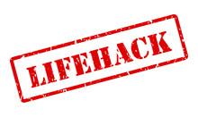 Lifehack Grunge Stamp