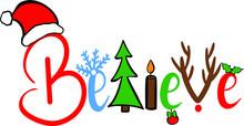 Believe Christmas Decoration F...