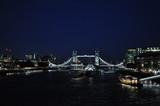 Fototapeta Londyn - London by night, londyn, noc, tower bridge, london bridge, most, bridge, london eye