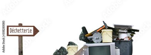 déchetterie , objets ,déchets ,concept de recyclage Wallpaper Mural
