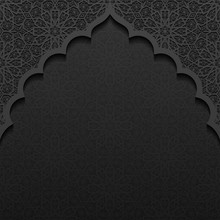 Dark Background With Traditional Floral Ornament
