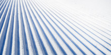 New Groomed Ski Piste Or Slope...