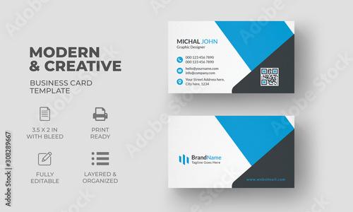 Fototapeta Creative Modern Business Card Template  obraz