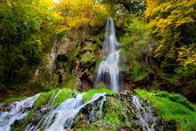 Waterfall Urach Germany Schwäbische Alb In Autumn