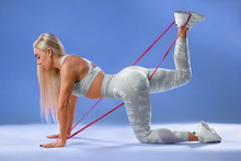 Fitness Woman Doing Exercise F...