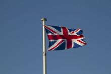 Union Jack On A Blue Sky