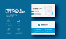 Medical And Healthcare Business Card Template | Clean & Modern Medical Business Card