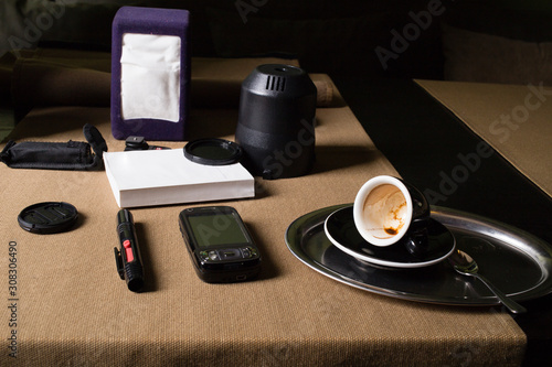 Valokuva Worktable of a photographer.
