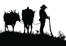 A Vector Silhouette Of A Wild ...