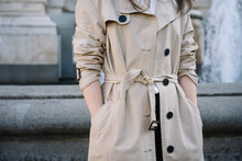Woman In Trench Coat