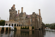 Beautiful Castle Loma On A Rainy Day In The Suburbs Of Toronto, Canada
