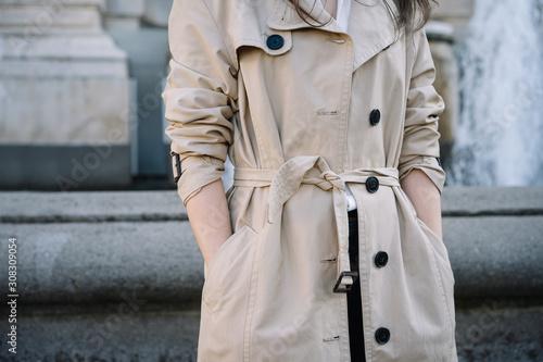 Fotografie, Obraz woman in trench coat
