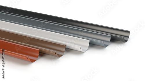 Vászonkép Drainage gutters collection - 3D illustration