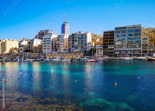 Fototapeta City view of St.Julians, Malta obraz