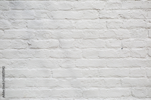Cuadros en Lienzo Rustic style painted white brick wall background