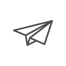 Send Message Icon. Paper Plane...