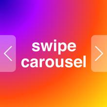 Social Network Carousel Instagram Gradient Vector Illustration