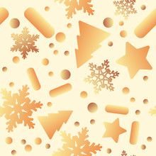 Christmas Gold Bells, Birds, P...