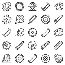 Saw Icons Set. Outline Set Of ...