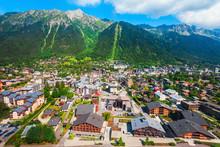 Chamonix Town Aerial Panoramic...