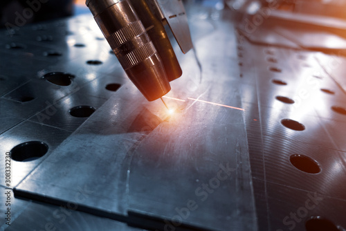 Arc welding robot. Example of working with a laser pointer Wallpaper Mural